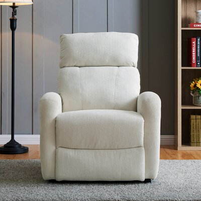 Wirth Power Recliner Upholstery: Cream
