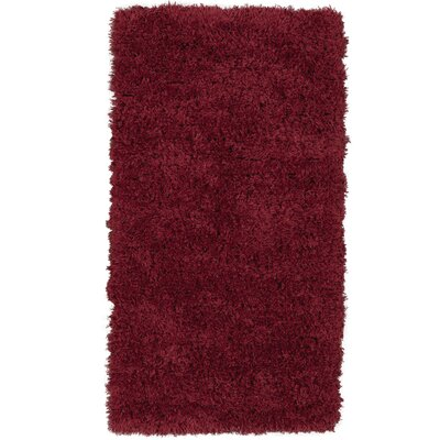 Costantino Soft High Pile Red Area Rug Rug Size: Rectangle 27 x 5