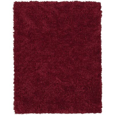 Costantino Soft High Pile Red Area Rug Rug Size: Rectangle 53 x 7