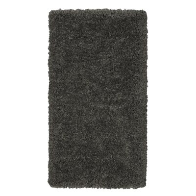 Costantino Fuzzy High Pile Dark Gray Area Rug Rug Size: Rectangle 27 x 5