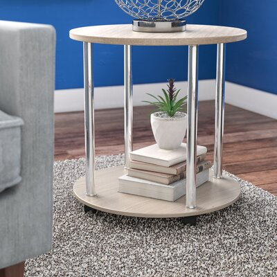 Adelinna 2 Tier Round End Table