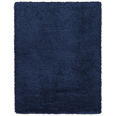 Costantino Fuzzy High Pile Navy Area Rug Rug Size: Rectangle 27 x 5