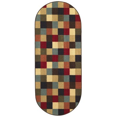 Galesburg Area Rug Rug Size: Oval 2 x 5