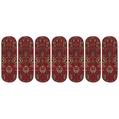 Ryan Leaf Oval Red Stair Tread