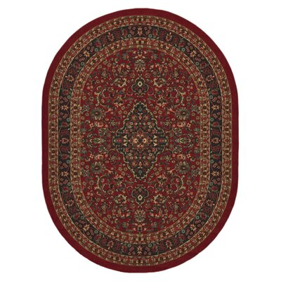 Ryan Red Area Rug Rug Size: Oval 5 x 66