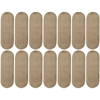 Tharp Oval Camel Stair Tread Set Quantity: 14