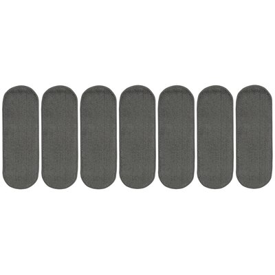 Tharp Oval Dark Gray Stair Tread Set Quantity: 7