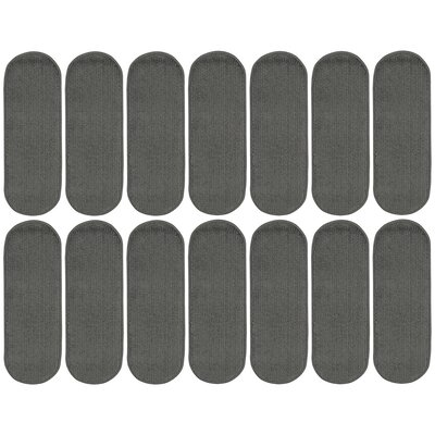 Tharp Oval Dark Gray Stair Tread Set Quantity: 14