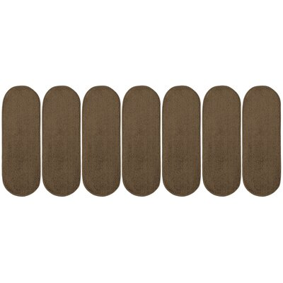 Tharp Oval Brown Stair Tread Set Quantity: 7