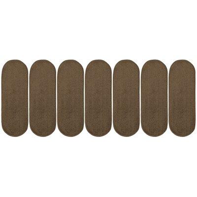 Tharp Oval Brown Stair Tread Set Quantity: 7
