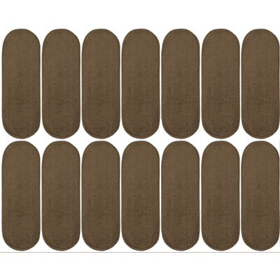 Tharp Oval Brown Stair Tread Set Quantity: 14