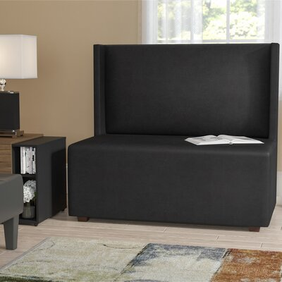 Amato Square Loveseat Upholstery: Black