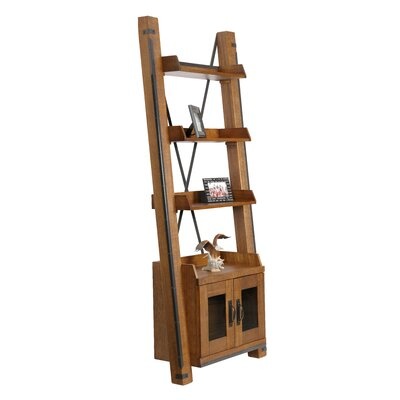 Chestertown Two Door Ladder Bookcase 48581F80C45D425A8B0003FA6483FB64