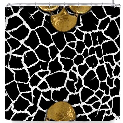 Shirlei Patricia Muniz Gold Necklace Shower Curtain