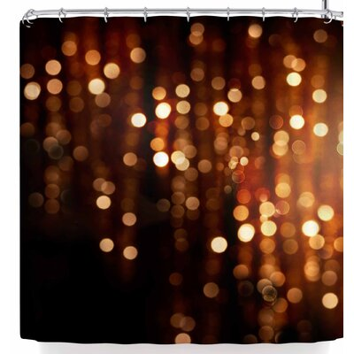 Susan Sanders Copper Gold Glitter Lights Shower Curtain