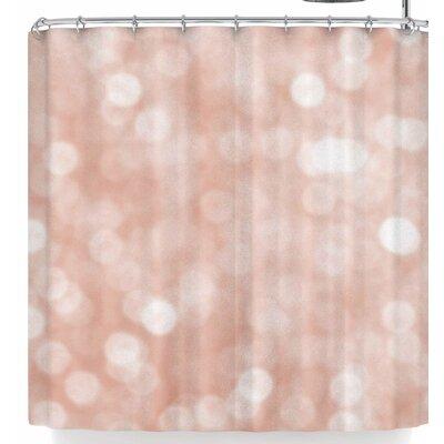 Susan Sanders Blush Rose Sparkle Shower Curtain