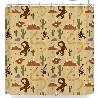 Stephanie Vaeth Desert Life Shower Curtain