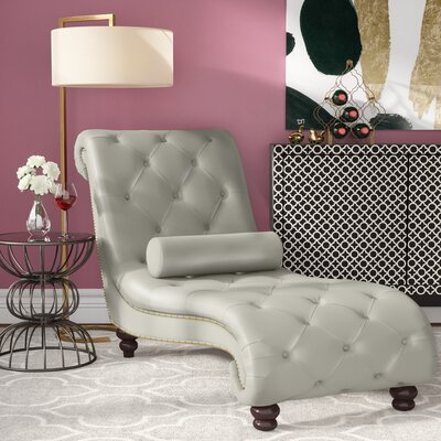 Renhold Chaise Lounge Upholstery: Silver Antique
