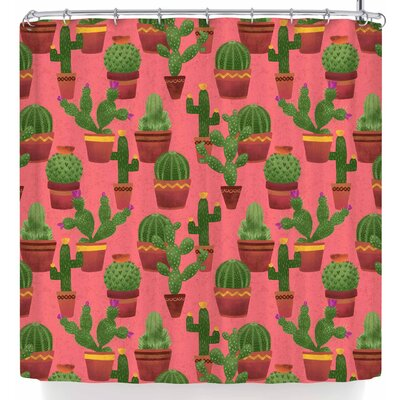 Noonday Design Terra Cotta Cacti On Shower Curtain