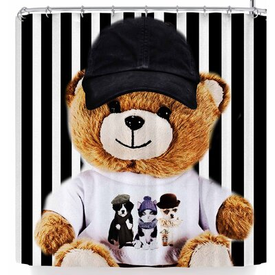 Shirlei Patricia Muniz Happy Bear Shower Curtain