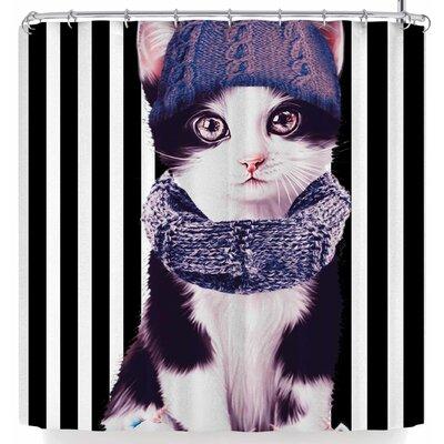 Shirlei Patricia Muniz Kitten with Cold Shower Curtain