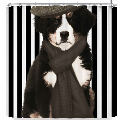 Shirlei Patricia Muniz Parision Puppy Shower Curtain