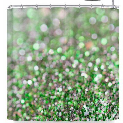 Susan Sanders Glitter Shower Curtain