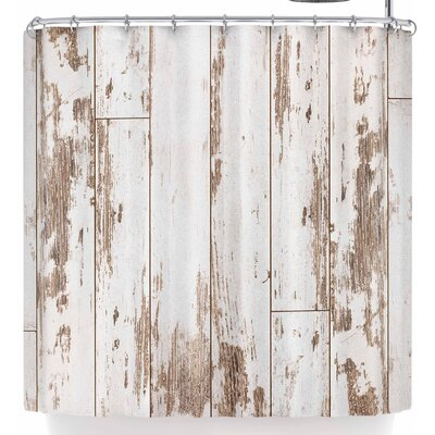 Susan Sanders White Barn Weathered Wood Shower Curtain