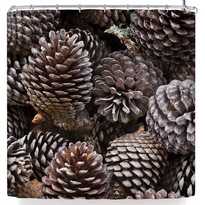 Susan Sanders Brown Pine Cones Shower Curtain