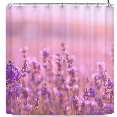 Susan Sanders Lavender Flowers Shower Curtain