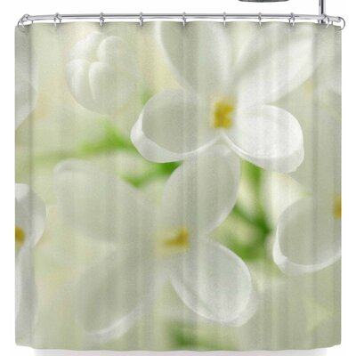 Susan Sanders White Flowers Shower Curtain