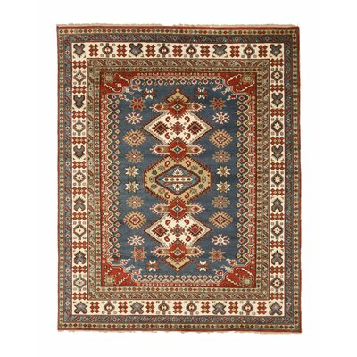 Wallenstein Traditional Oriental Hand-Knotted Wool Blue/Beige Area Rug Rug Size: Rectangle 8 x 10