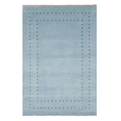 Dreher Transitional Solid Hand-Woven Wool Aqua Area Rug Rug Size: Rectangle 6 x 9