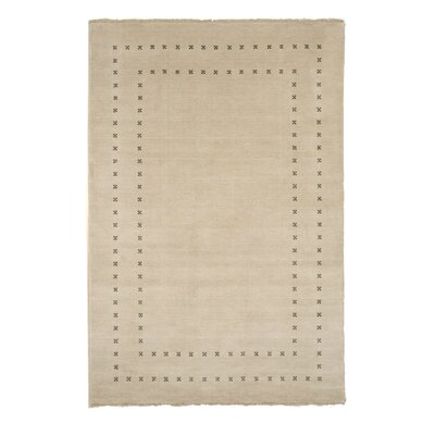 Dreher Transitional Solid Hand-Woven Wool Beige Area Rug Rug Size: Rectangle 6 x 9