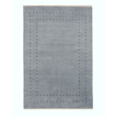 Dreher Transitional Solid Hand-Woven Wool Blue Area Rug Rug Size: Rectangle 9 x 12