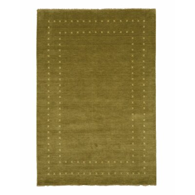 Dreher Transitional Solid Hand-Woven Wool Green Area Rug Rug Size: Rectangle 6 x 9
