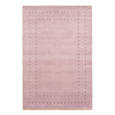 Dreher Transitional Solid Hand-Woven Wool Purple Area Rug Rug Size: Rectangle 6 x 9