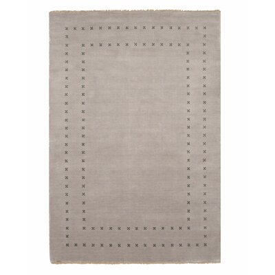 Dreher Transitional Solid Hand-Woven Wool Gray Area Rug Rug Size: Rectangle 9 x 12