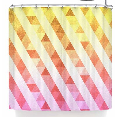 Tobe Fonseca Triangles Lines Shower Curtain