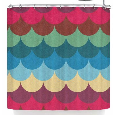 Tobe Fonseca Colorful Mermaid Shower Curtain