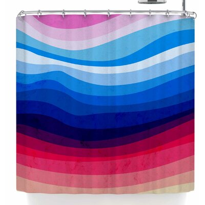 Tobe Fonseca Melted Rainbow Shower Curtain