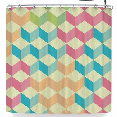 Tobe Fonseca Sugarcubes Geometric Shower Curtain