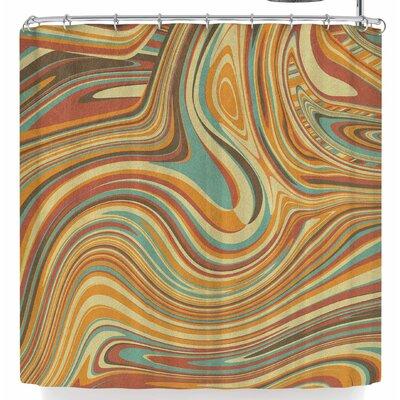 Tobe Fonseca Rainbow Marble Organic Texture Shower Curtain