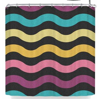 Tobe Fonseca Rainbow Waves Shower Curtain