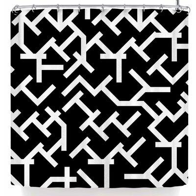 Tobe Fonseca Geometric Labyrinth Shower Curtain