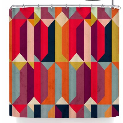 Tobe Fonseca Geometric Icelandic Colors Shower Curtain