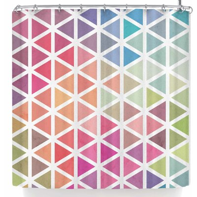 Tobe Fonseca Geometric Fractal Triangles Bu Shower Curtain