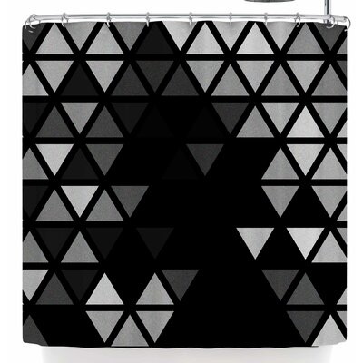 Tobe Fonseca Geometric Fractal Triangles Bl Shower Curtain