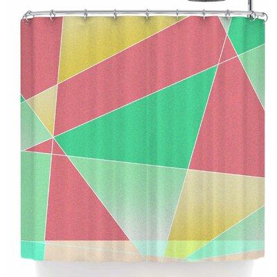 Tobe Fonseca Geometric Fractal Strawberry M Shower Curtain