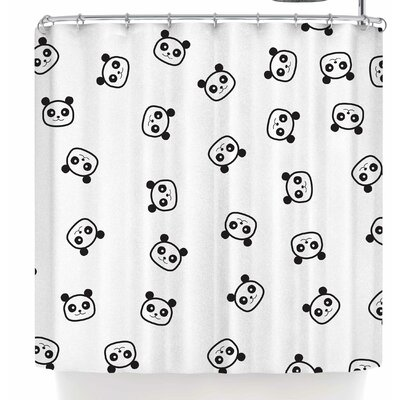 Tobe Fonseca Pandamonio Panda Shower Curtain